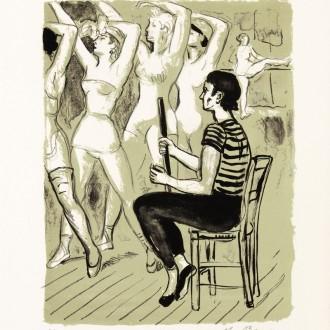 01-B4a99-YVES-BRAYER-LE-MAITRE-DE-BALLET-SERGE-LIFAR-1969-Lithographie-couleur-26x20.5cm-Livre-La-danse-à-l'Opéra