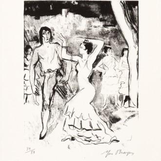 15b-K799-YVES-BRAYER-SERGE-LIFAR-ET-TERESINA-1969-Lithographie-26x20.5cm-Livre-La-danse-à-l'Opéra